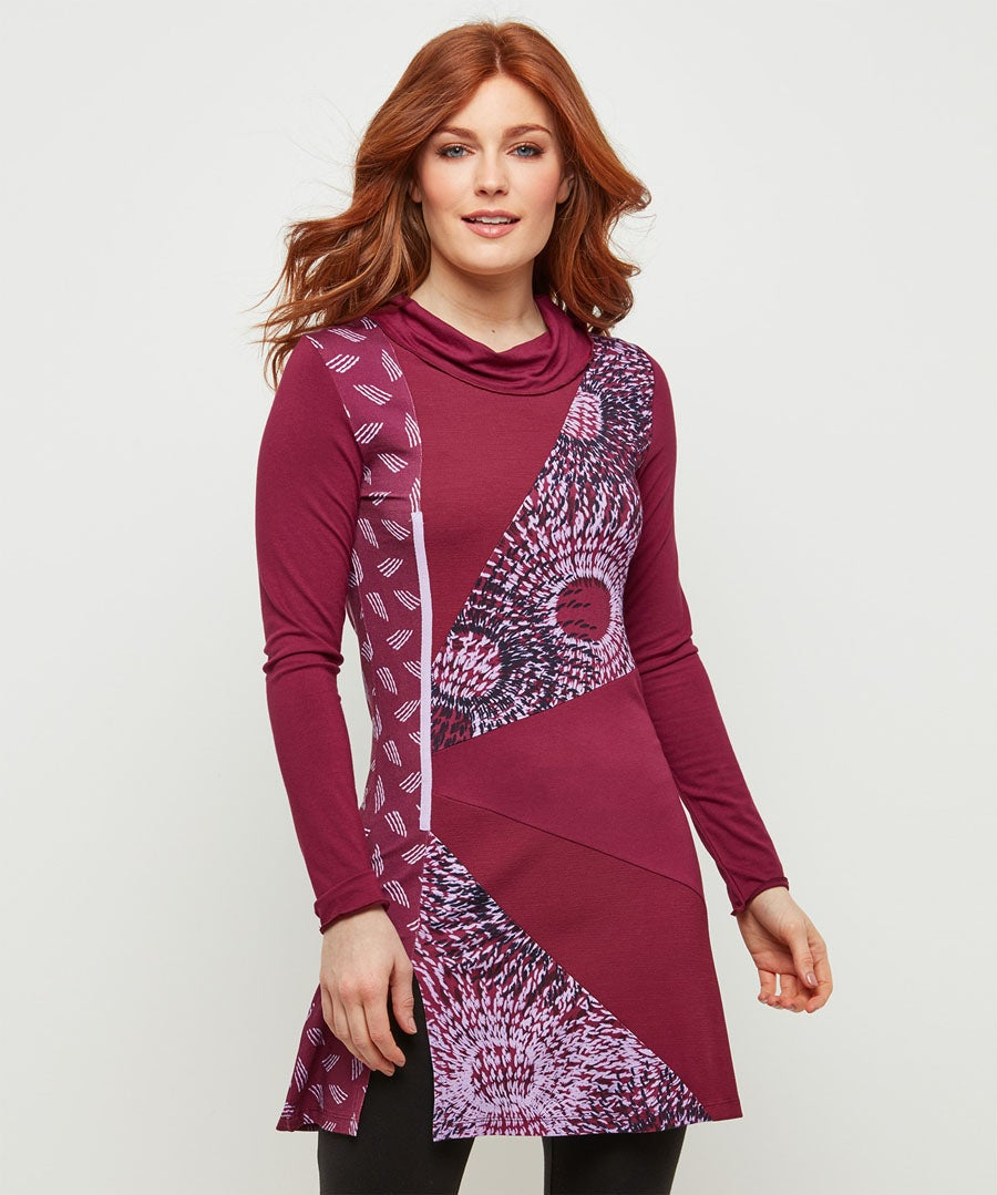 Mix And Match Thistle Tunic Model Front