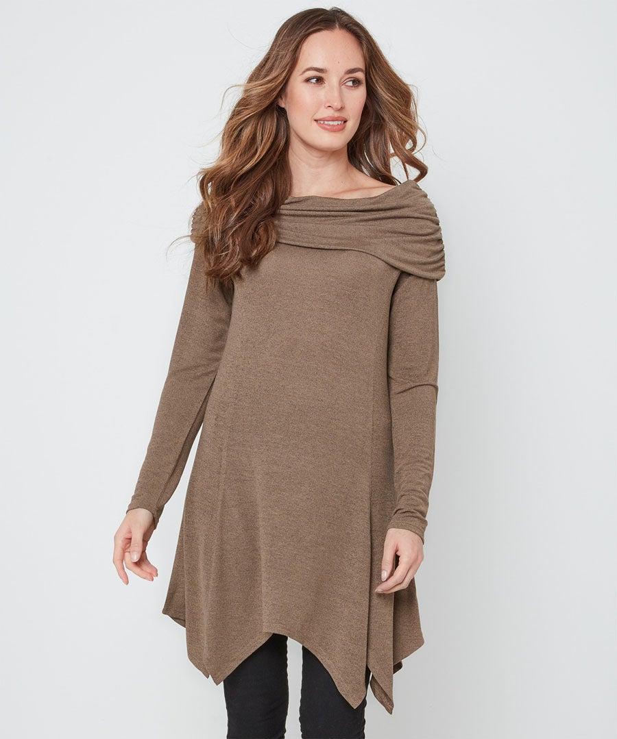Easy Wearer Knit Tunic Model Front
