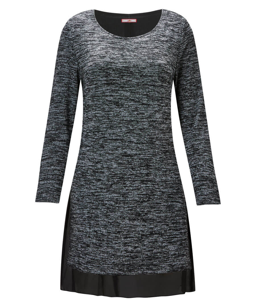 Space Dye Knitted Tunic Model Front