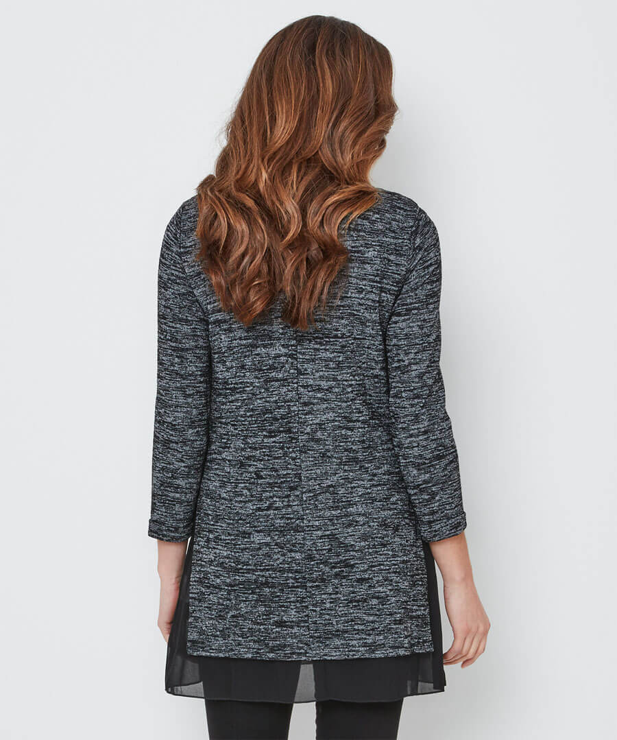 Space Dye Knitted Tunic Model Back
