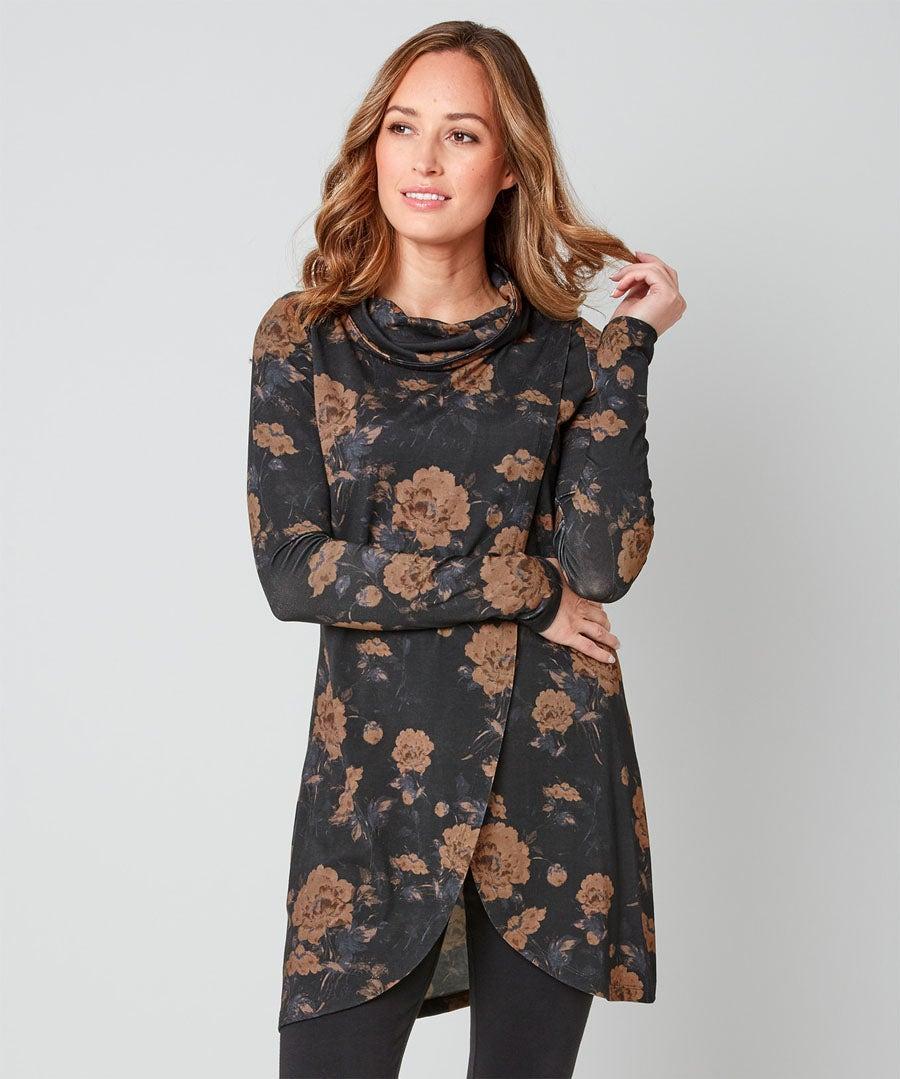 Elegant Wrap Style Tunic Model Front