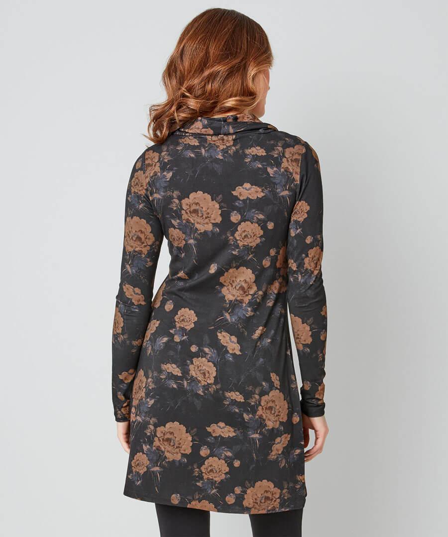 Elegant Wrap Style Tunic Model Back