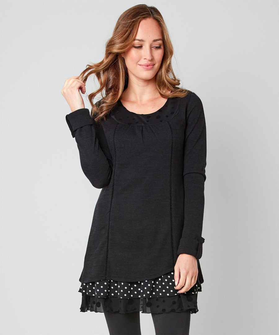 Touch Of Polka Dot Tunic Model Front