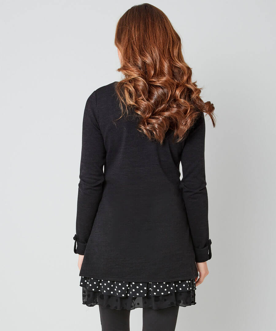 Touch Of Polka Dot Tunic Model Back