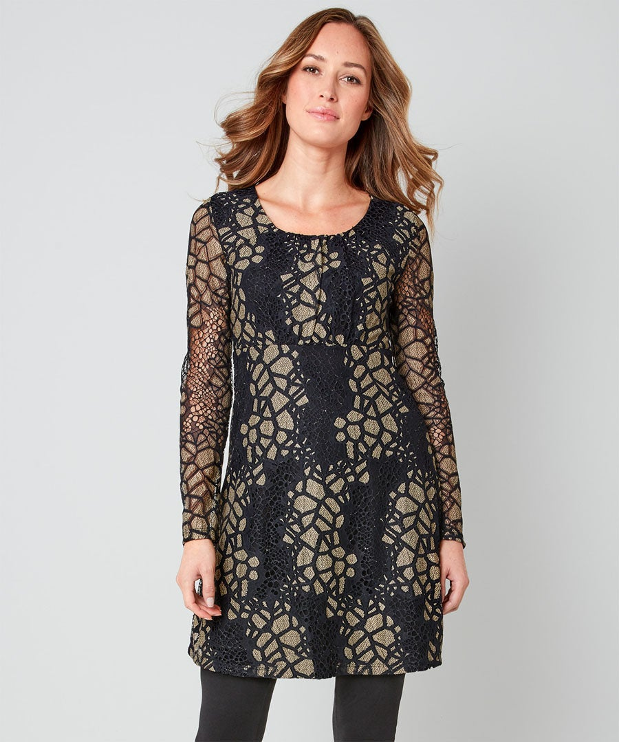 Remarkable Lace Tunic Model Front