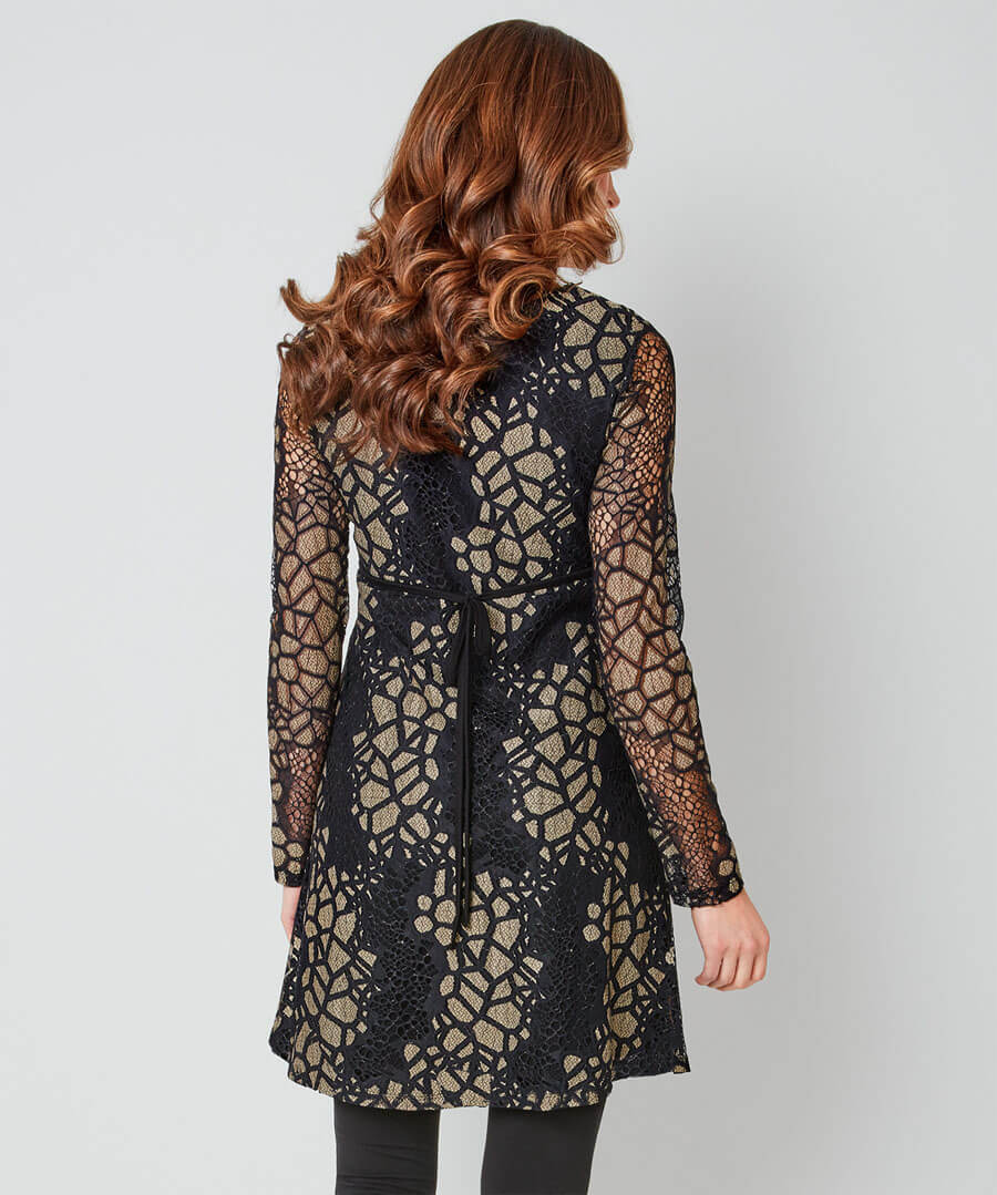 Remarkable Lace Tunic Model Back