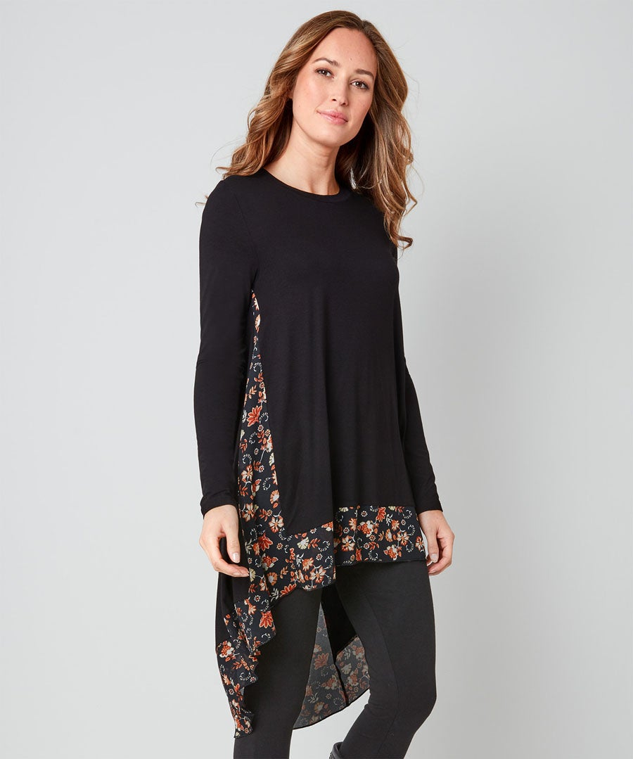 Flattering Waterfall Tunic Model Front
