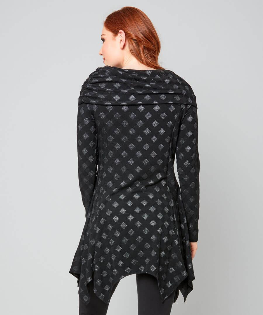 Checkerboard Tunic Model Back