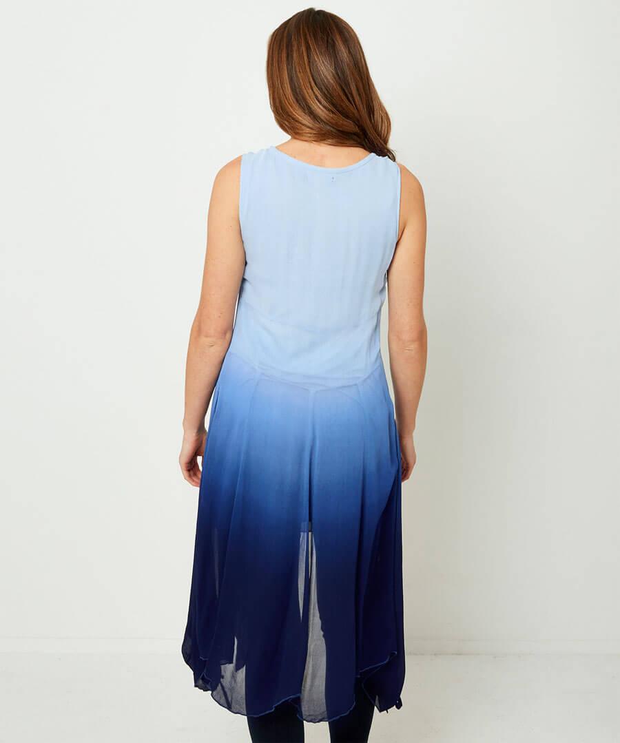 Dip Dye Tunic Model Back