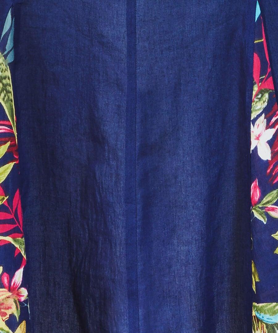 Embroidered Godet Tunic Back