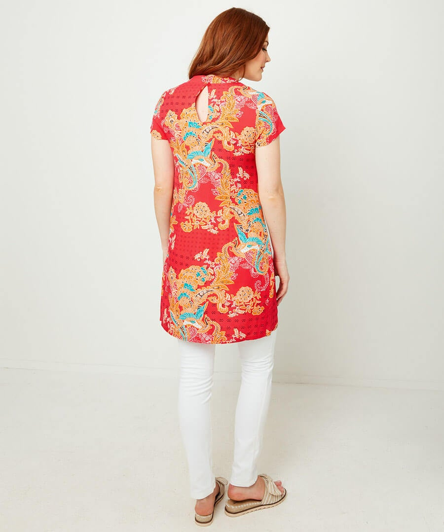 Eastern Style Tunic Model Back