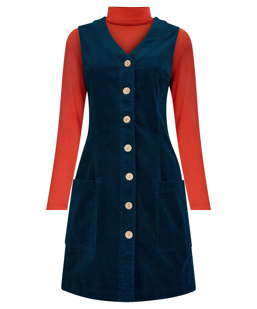 Vintage Style Dresses | Vintage Inspired Dresses Cracking Cord Tunic $45.00 AT vintagedancer.com