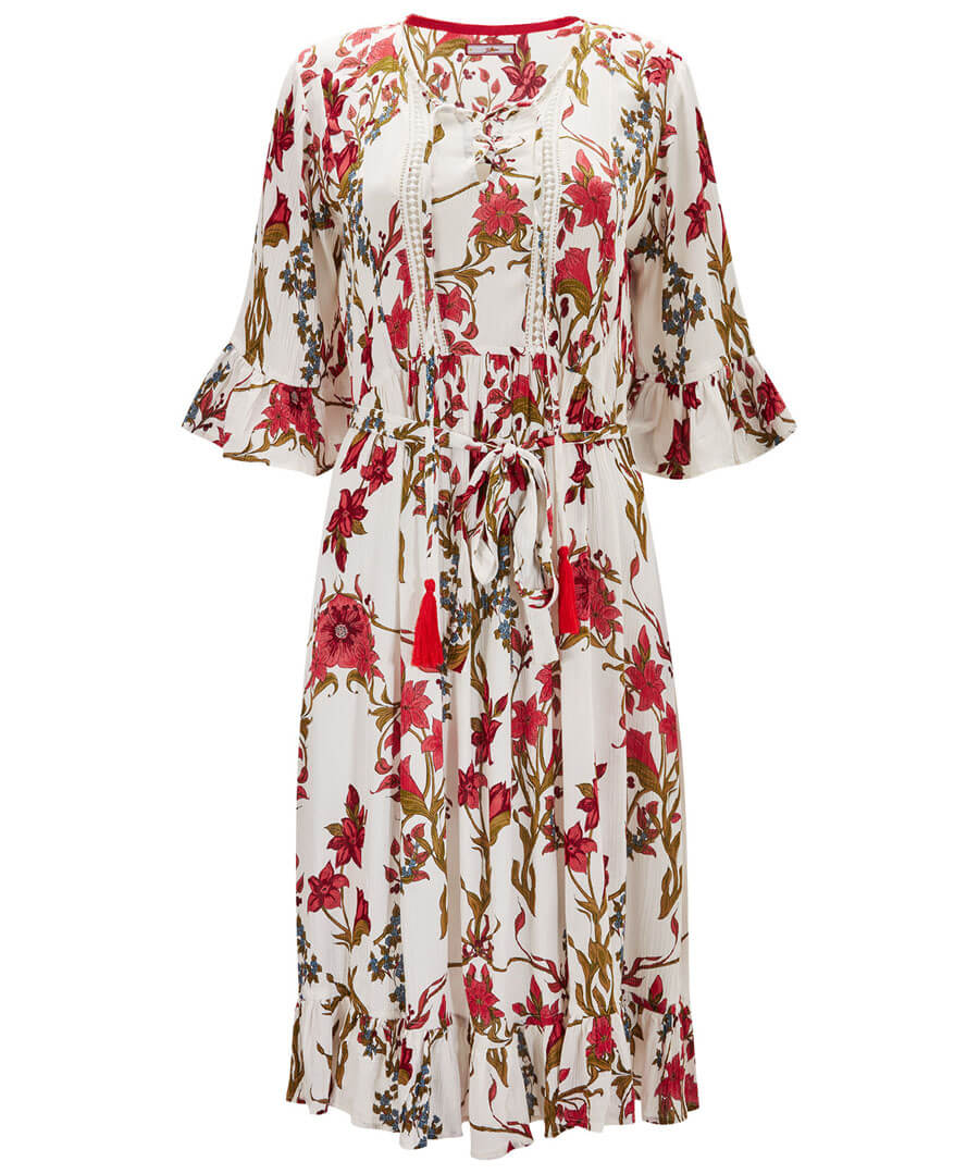 Be Free Floral Dress Model Front