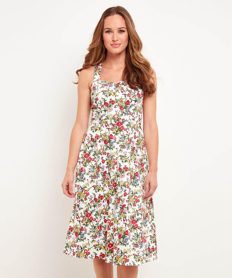 Charming Tea Dress Model Front
