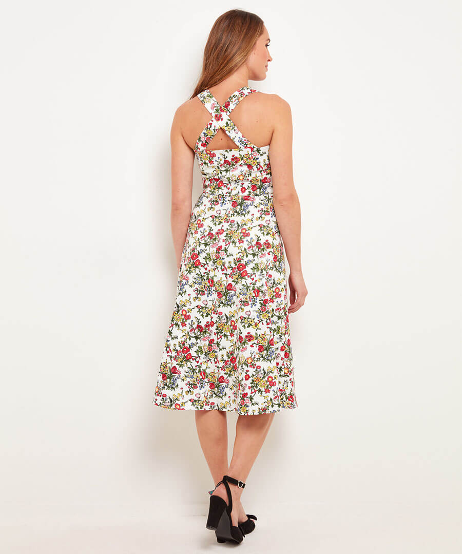 Charming Tea Dress Model Back