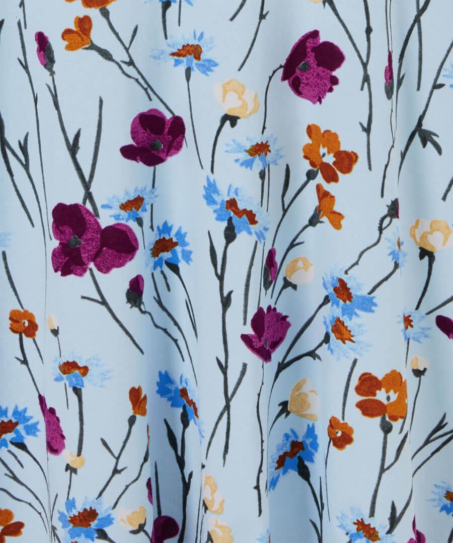 Colourful Floral Dress Back