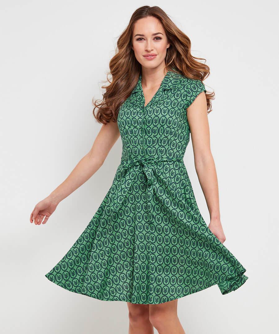 Artistic Vintage Dress Model Front