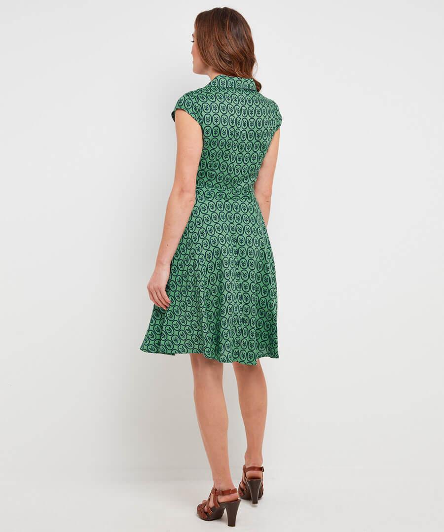 Artistic Vintage Dress Model Back