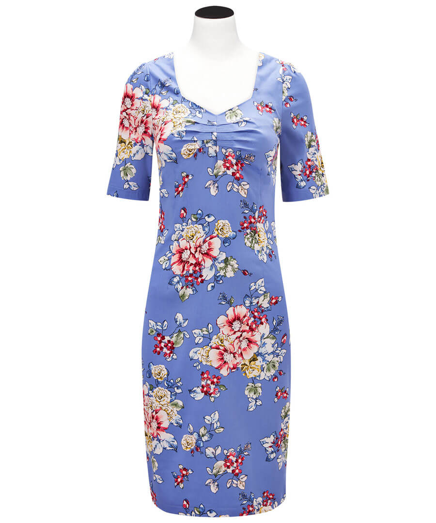 Romantic Summer Dress Model Front