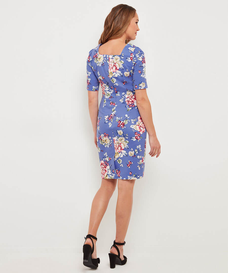 Romantic Summer Dress Model Back