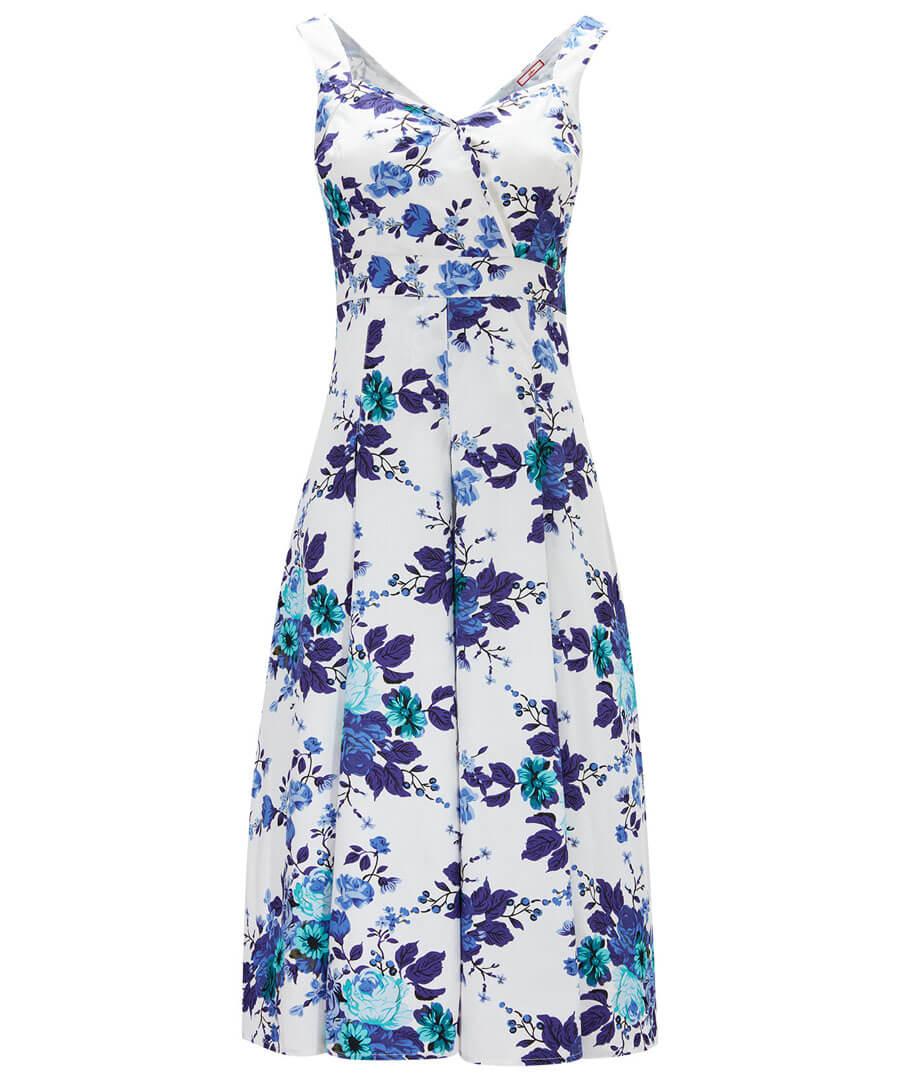 Santorini Summer Dress Model Front