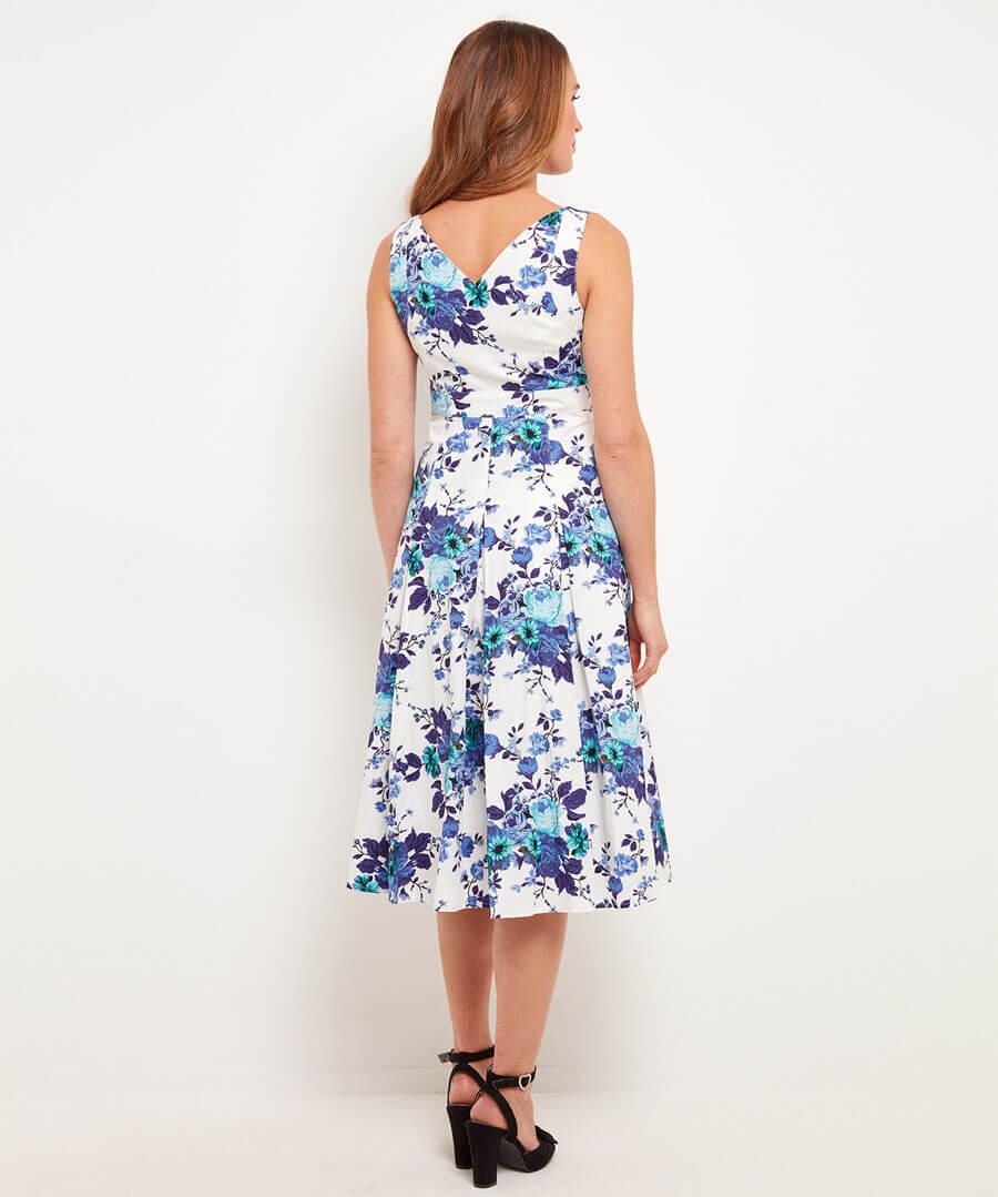 Santorini Summer Dress Model Back