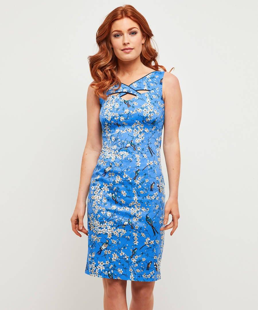 Across The Orient Dress Model Front