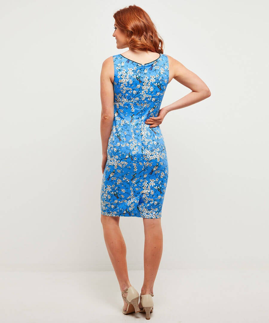 Across The Orient Dress Model Back