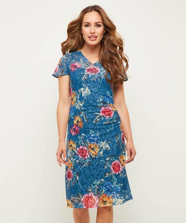 Wintertime Floral Lace Dress