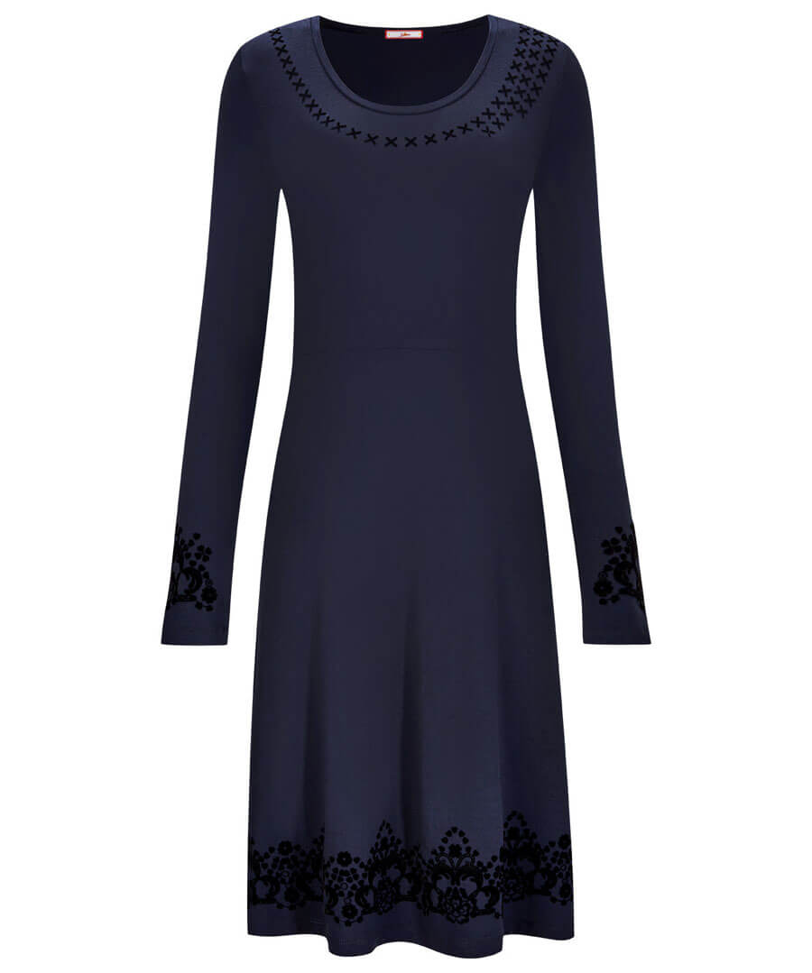 Fantastic Flock Dress Model Front