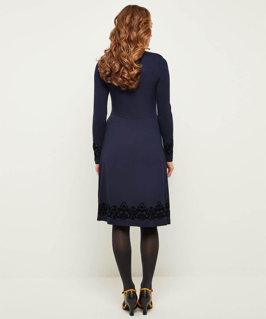 Fantastic Flock Dress Model Back