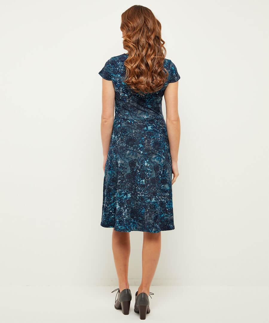 Fabulous Flocked Dress Model Back