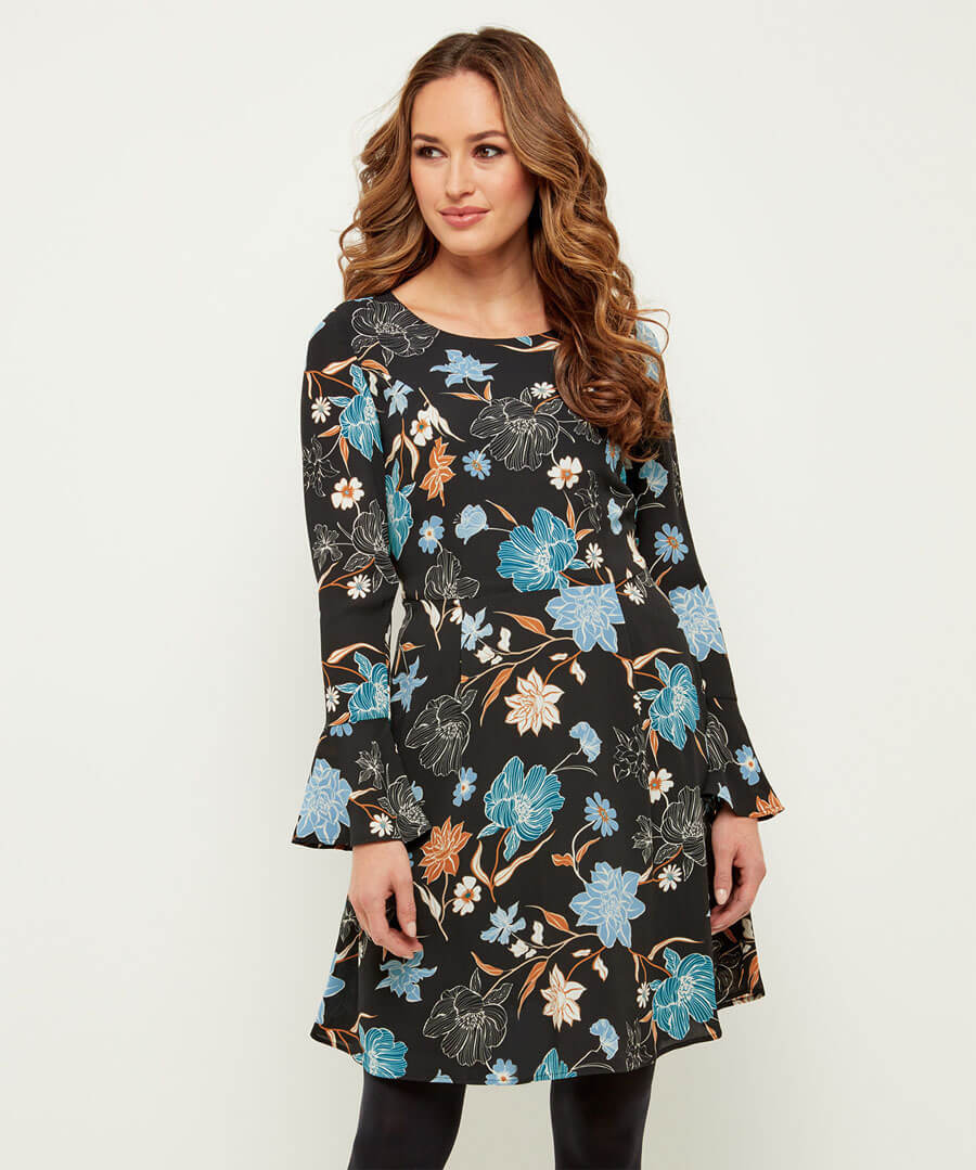 Fabulous Fluted Sleeve Dress