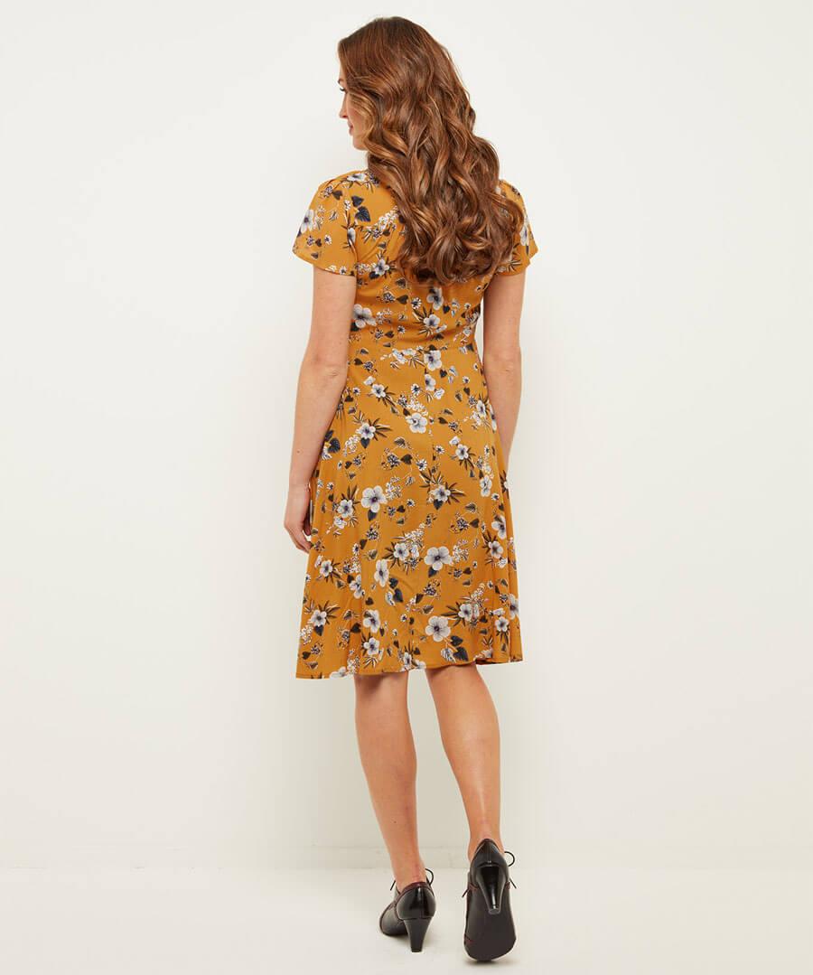 Sweetheart Vintage Style Dress Model Back