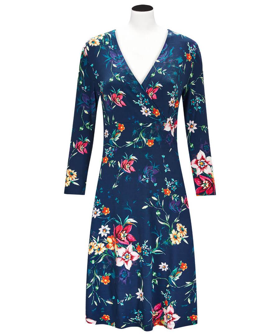 Beautiful Printed Dress Model Front