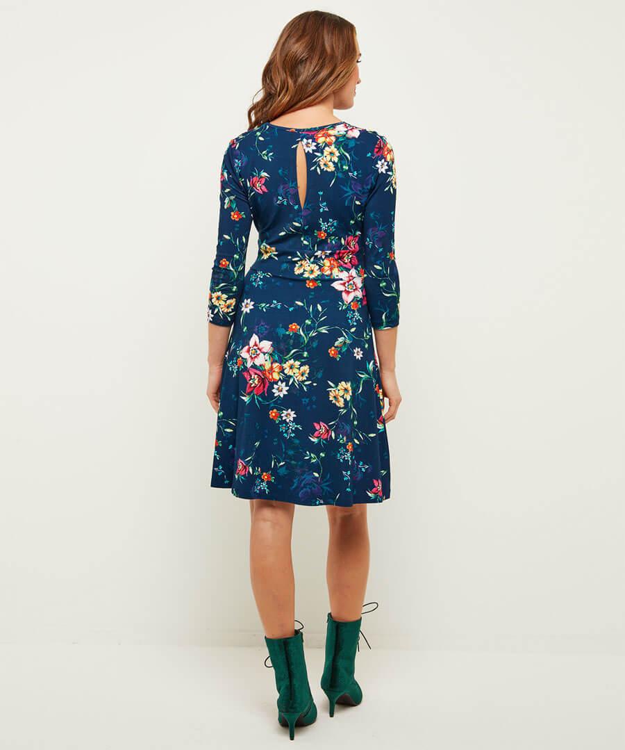 Beautiful Printed Dress Model Back