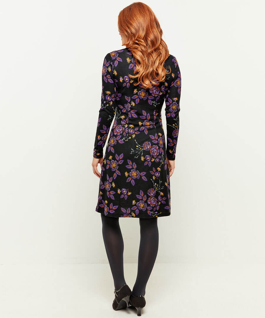 Wonderful Knitted Dress Model Back
