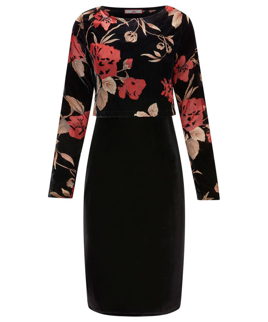 Luscious Devore Dress Model Front
