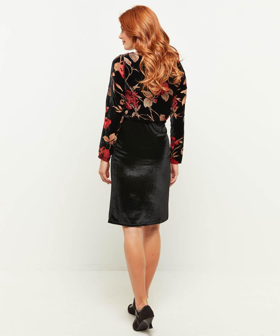 Luscious Devore Dress Model Back