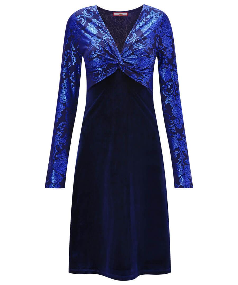 Vivid Velvet Dress Model Front