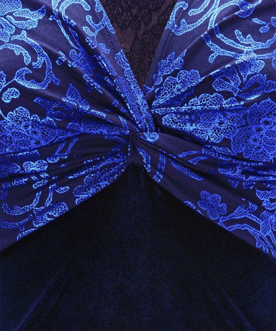 Vivid Velvet Dress Back