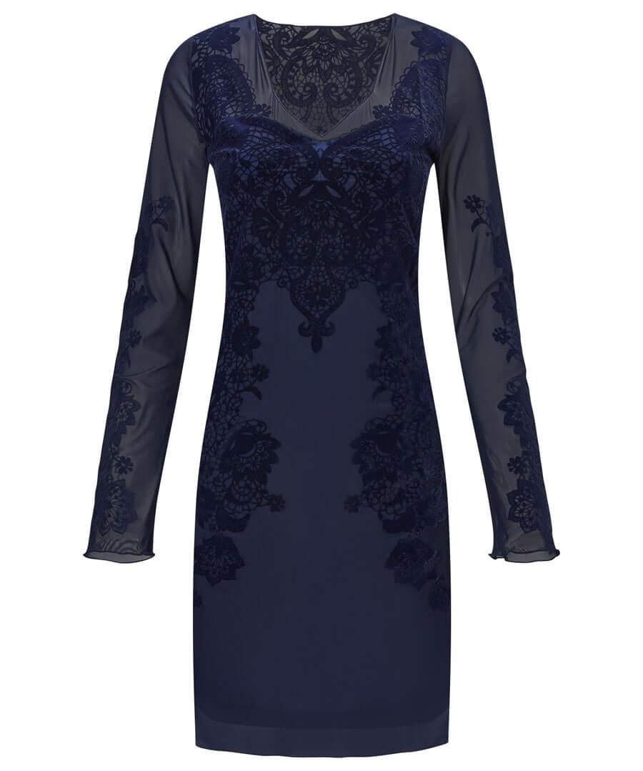 Divine Devore Dress Model Front