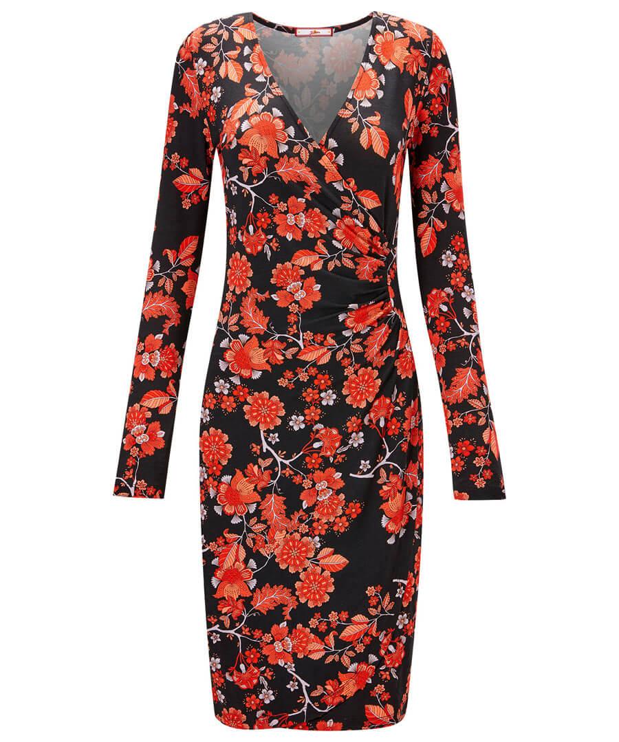 Feisty Floral Dress Model Front
