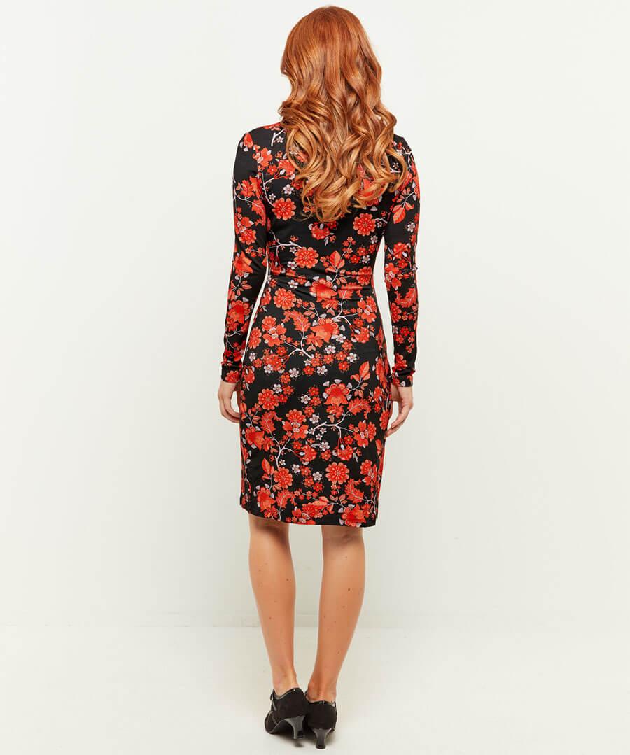 Feisty Floral Dress Model Back