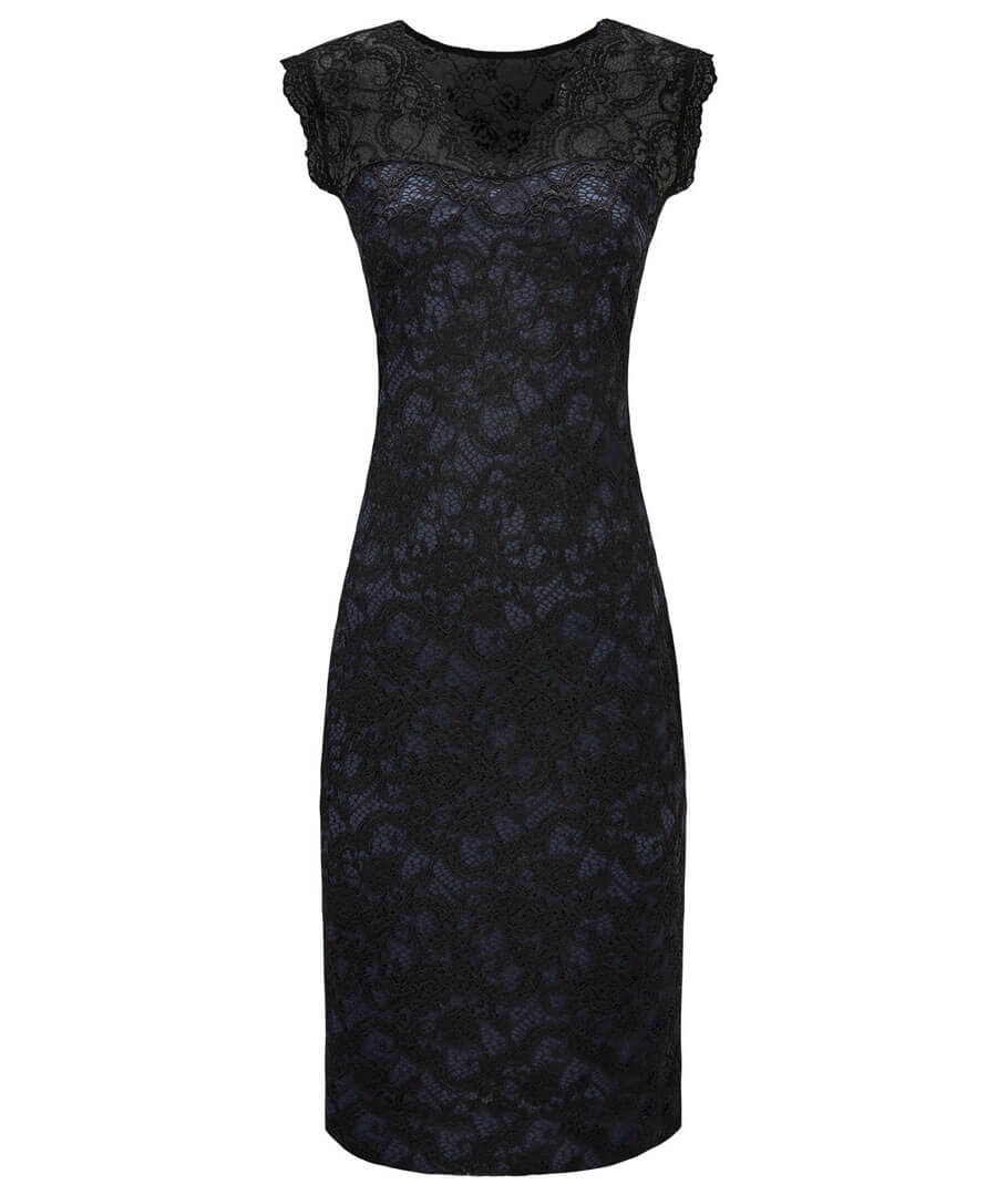 Lustrous Lace Dress Model Front