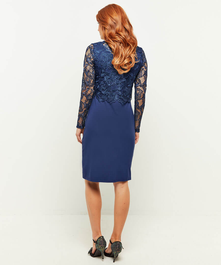 Perfect Lace Dress Model Back