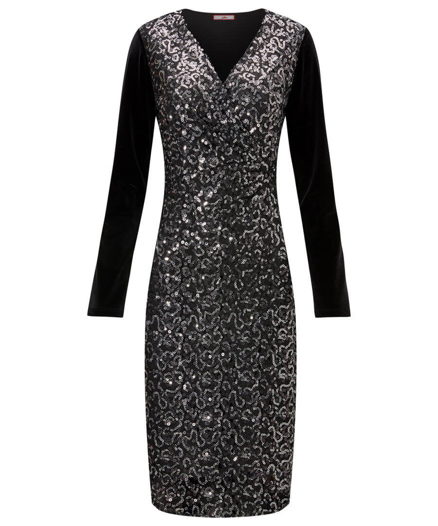 Sparkle All Night Dress Model Front