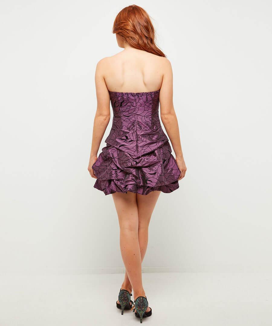 Simply Stunning Glitter Dress Model Back