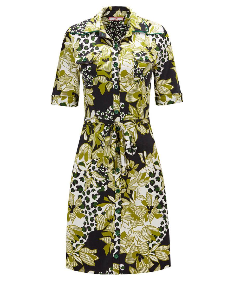 Boutique Button Up Dress Model Front