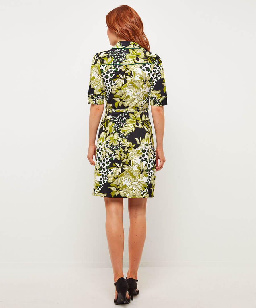 Boutique Button Up Dress Model Back